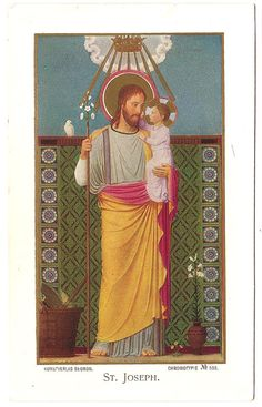 St. Joseph & Baby Jesus Antique Catholic by 12StarsVintage on Etsy