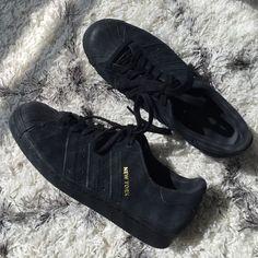 Adidas Superstar Degli Anni '80, Cuore Nero Bianco Esclusiva Della Moda