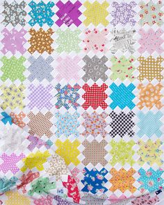 Single Irish Chain Quilt - Work in Progress | Red Pepper Quilts 2015