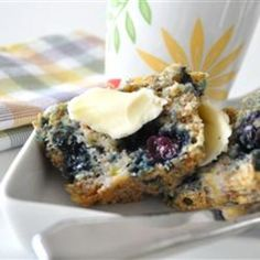 #recipe #food #cooking Health Nut Blueberry Muffins