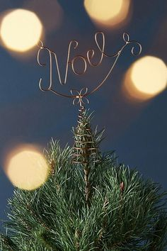 Noel Tree Topper, Anthropologie