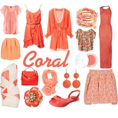 Coral is pretty fantastic Summer Outfits, Casual Outfits, Cute Outfits, Coral Color, Colour, Fashion Collage, Dressed To The Nines, Classy And Fabulous, My Outfit