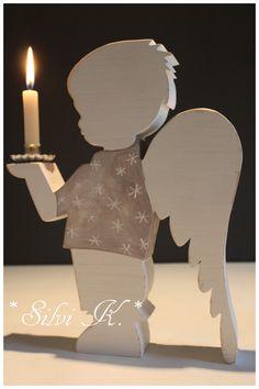 ♥ Shabby Engel-Leuchter Bub 26,5 cm groß ♥
