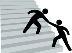 Helping Hand To Help Friend Up On Stairway To Top Stock Vector - Illustration of clipart, person: 13438509 Free Vector Images, Vector Free, Real Estate Yard Signs, Vector Graph, Vector Icons, Person Icon, Dance Vector, Drafting Tools, Electrical Symbols