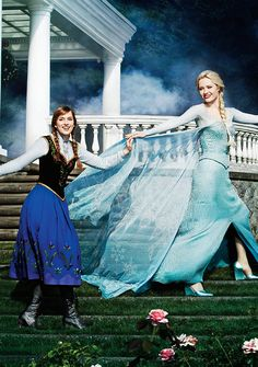 Anna & Elsa come to life on Once Upon A Time!
