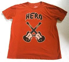 Mens Size L Local Celebrity T Shirt GUITAR HERO Graphic, Video Game VGC. $4.99