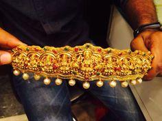 Wow 1 Gram Gold Jewellery, Gold Temple Jewellery, India Jewelry, Gold Jewellery Design, Bridal Accessories, Bridal Jewelry, Vaddanam Designs, Jewelry Model, Jewelry Patterns