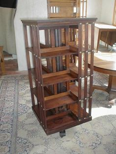 just found this revolving bookcase table   shaker style