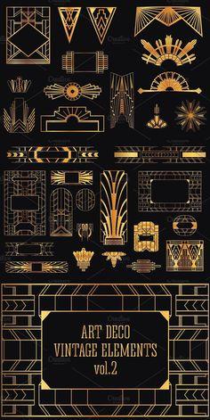 31 Art Deco Design Elements Vol.2. Decoration #artdeco #designelements