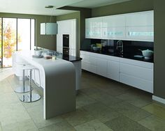 Remo white kitchens, sleek and stylish. Checkout some more pictures here http://www.diy-kitchens.com/kitchens/remo-white/details/