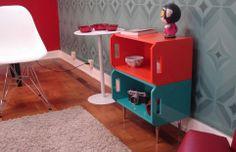 Caixotes de feira transformados em móveis! feitos pelo designer Mutza