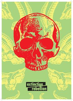 Extinction Rebellion's posters veer away from shock-value or outright vitriol, instead using bright colours and playful patterning such as a man with a beard of bees to make their point. Play Poster, Protest Posters, Environmental Art, Free Prints, Creative Industries, Wall Collage, Zine, Climate Change, Simple