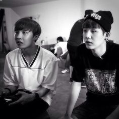 j-hope and suga.  yoonseok