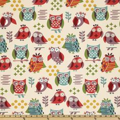 """Roosters/ Chickens Valance - 50"""" x 16"""" - P Kaufmann It's a Hoot Jewel Fabric- lavender, green, yellow, turquoise and ivory"""