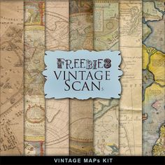 Far Far Hill - Free database of digital illustrations and papers: Freebies Vintage Maps Kit Printable Scrapbook Paper, Digital Scrapbooking Freebies, Digital Scrapbook Paper, Printable Paper, Scrapbook Pages, Digital Papers, Printable Vintage, Kit Digital, Digital Paper Free