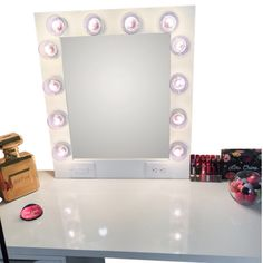 This vanity mirror is every girls dream! It has everything you need to face the day feeling refreshed and beautiful. This vanity mirror provides the perfect lig Hollywood Vanity Mirror, Vanity Mirrors, Custom Vanity, Girls Dream, Makeup, Rooms, Website, Bedroom, Home Decor
