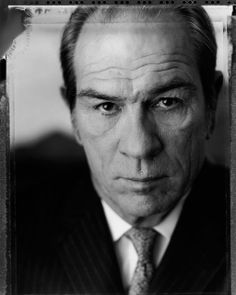 Oh this is a fantastic #monochrome #headshot of #TommyLeeJones by #AndrewEccles!
