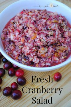 Fresh Cranberry Salad.  A tasty and different substitute for the cranberry sauce.  Perfect for Thanksgiving dinner.