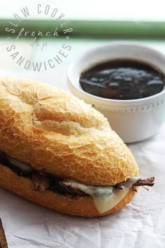 Juicy slow cooked beef sandwiches, topped with melty swiss cheese and served with perfectly flavored au jus sauce!