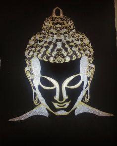"Yang Buddha 30""x40""  #painting #handmade #yingyang #buddha #paint #art #artist #artwork #buddhism #religion #stencil #stencils #multilayerstencil #stencilart #painting #graffiti #graffitiartist #gold #silver #spraypaint #spraycan #nofilter #nofilterneeded #nofilters #buddhaart #custom #wall #wallart"