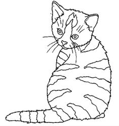 Home Decorating Style 2020 for Coloriage De Chat A Imprimer Gratuit, you can see Coloriage De Chat A Imprimer Gratuit and more pictures for Home Interior Designing 2020 3061 at SuperColoriage. Easy Coloring Pages, Cat Coloring Page, Embroidery Art, Embroidery Patterns, Cat Signs, Cat Quilt, Thread Painting, Cat Pattern, Cat Drawing