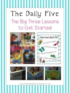 The Daily Five: The Big Three (Mini Lessons to Launch Read to Self) and a FREE I Chart Poster schoolisahappyplace.blogspot.com