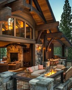 LOG CABIN- Visually, log homes tend to separate into two broad options. One is the historic style with dovetail corners and Chinking, that you see on our 55 Best Log Cabin Homes Modern page. Log Home Decorating, Decorating Ideas, Decor Ideas, Room Ideas, Log Cabin Homes, Log Cabin Living, Log Cabin Kits, Cabin Plans, Mountain Homes