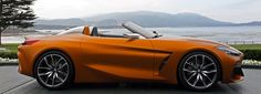 exclusive BMW concept reveal at concours d'elegance in pebble beach Bmw 318i, Bmw Z3, Bmw Z4 Roadster, Bmw Concept, Book Stands, Hot Wheels Cars, Pebble Beach, Transportation Design, Car Photography
