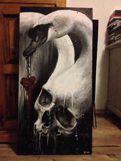 I want this. Skull and swan.