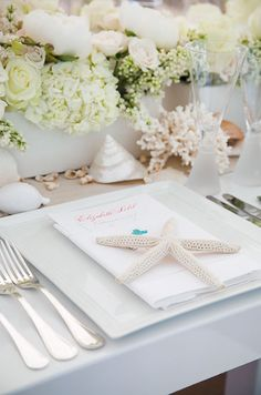 Don't forget the finishing touches, always make sure your plates and napkins are evenly centered.