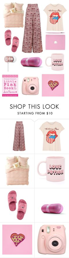 """Pajamas"" by trsca on Polyvore featuring The Bee's Sneeze, MadeWorn, Nordstrom Rack, ban.do, Beats by Dr. Dre, Victoria's Secret and Fujifilm"