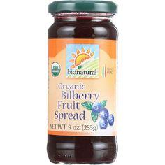 Bionaturae Fruit Spread - Organic - Bilberry - 9 oz - case of 12