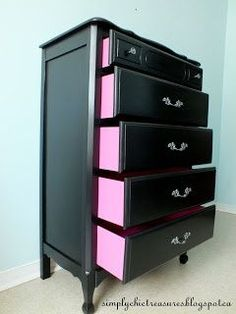 cute idea – paint .. Want brown & Pink