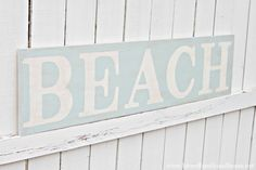 """Love Of Family  Home: Weathered """"Beach"""" Sign Tutorial"""