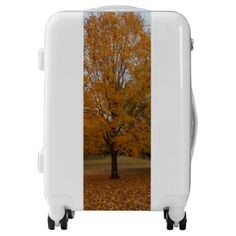 Orange Sugar Maple Luggage - autumn gifts templates diy customize