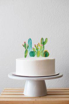 Cactus themed baby shower ideas - Torten/Cakes - Cactus themed baby shower ideas The Effective Pictures We Offer You About cactus wallpaper A quali - Unique Baby Shower, Baby Shower Themes, Baby Shower Decorations, Shower Ideas, Simple Baby Shower Cakes, Cactus Cake, Baby Cactus, Mexican Party, Snacks Für Party