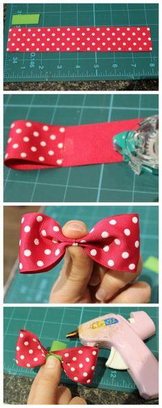 Simple ribbon bow