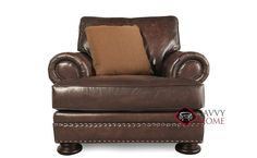 Foster Leather Chair with Down-Blend Cushion by Bernhardt in 203-020 at Savvy Home. $1,419.00
