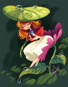 A very sweet illustration of Thumbelina from the extremely talented Lissy Marlin