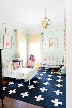 Big Kid, Little Kid: Shared Kids Rooms. I like this idea for use of space for siblings!