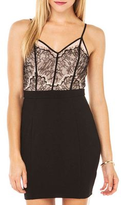 AKIRA Red Label Women's Lovely Lace Bodycon Dress
