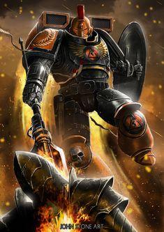 Warhammer Emperor, Warhammer 40k Art, Salamanders Space Marines, Here Be Dragons, John Stones, Game Workshop, Angel Of Death, Stone Art, Science Fiction