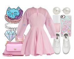 """Pastel//pink🌸"" by eva-l118 ❤ liked on Polyvore featuring AK Anne Klein, The Hand & Foot Spa, Casetify, Unicorn Lashes, Vans, Guerlain, Dolce&Gabbana and Natasha Zinko"