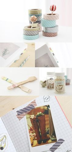Washi Tape School / Escuela Washi Tape, love these soft muted colors