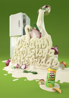 Chris Labroy is a graphic designer and typographer from United Kingdom. Together with GREY London and Creative Director Andy Lockley they designed nice and smooth commercials for Pringles cheddar cheese, sour cream and onion and BBQ flavour.
