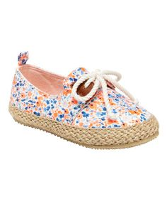 Another great find on #zulily! Blue & Orange Floral Rikki Espadrille by OshKosh B'gosh #zulilyfinds