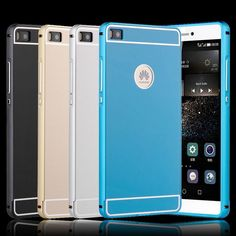 HC48 For Huawei P8 Lite Case Luxury Metal Aluminum Frame Acrylic Back Cover Phone Case Fundas for Huawei P8 Lite Protective Bag #Affiliate