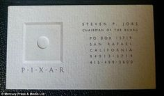 26 Best Business Cards Of Famous People Images Business Cards