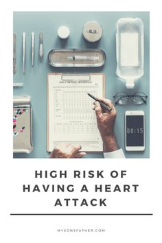 High Risk of a Heart Attack - My father died of a heart attack when he was 48, so a recent visit to the doctor was alarming when I discovered at the age of 38, I'm at high risk of a heart attack as well. I document the plan to address this issue and my attempts to get back into good health.