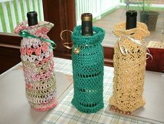 (Wine Bottle) Gift Bags pattern by Pamela JS Thomas - you can get the pattern through a link on this website - but that link is not pin-able.
